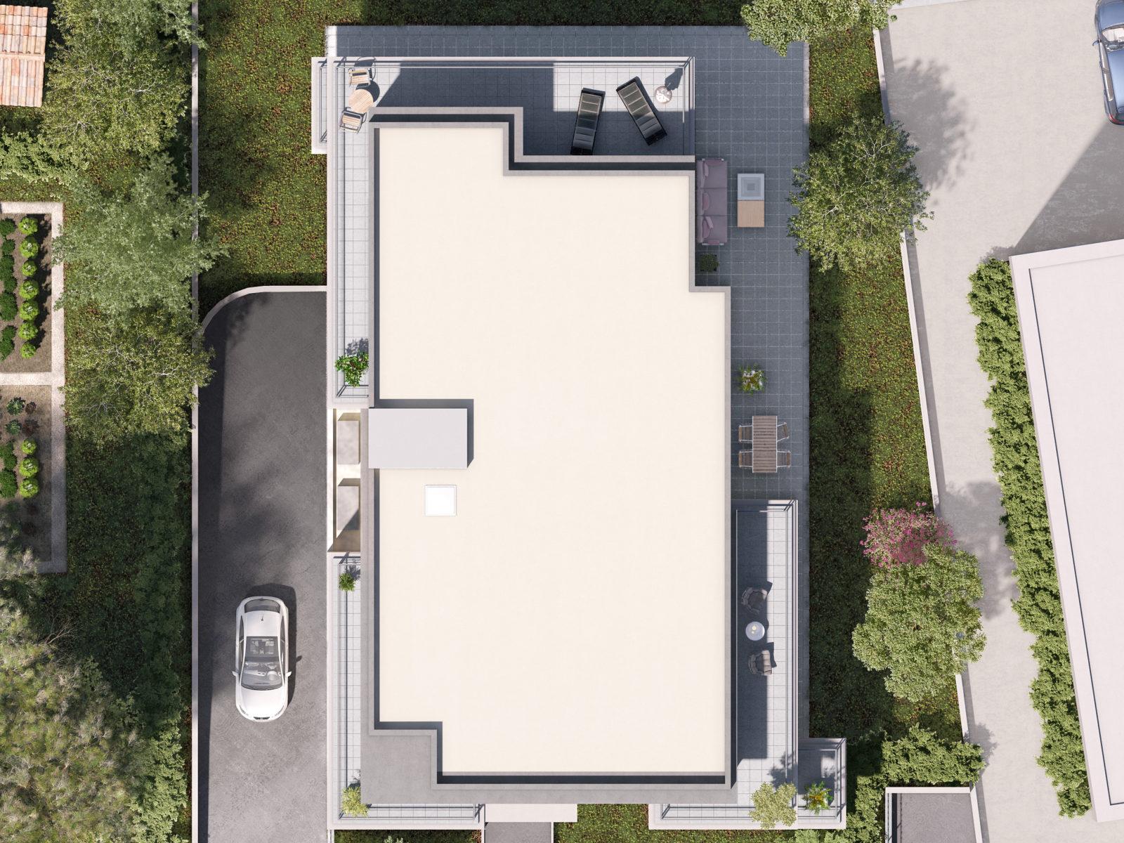 Villa Solana Aix en Provence plan de masse