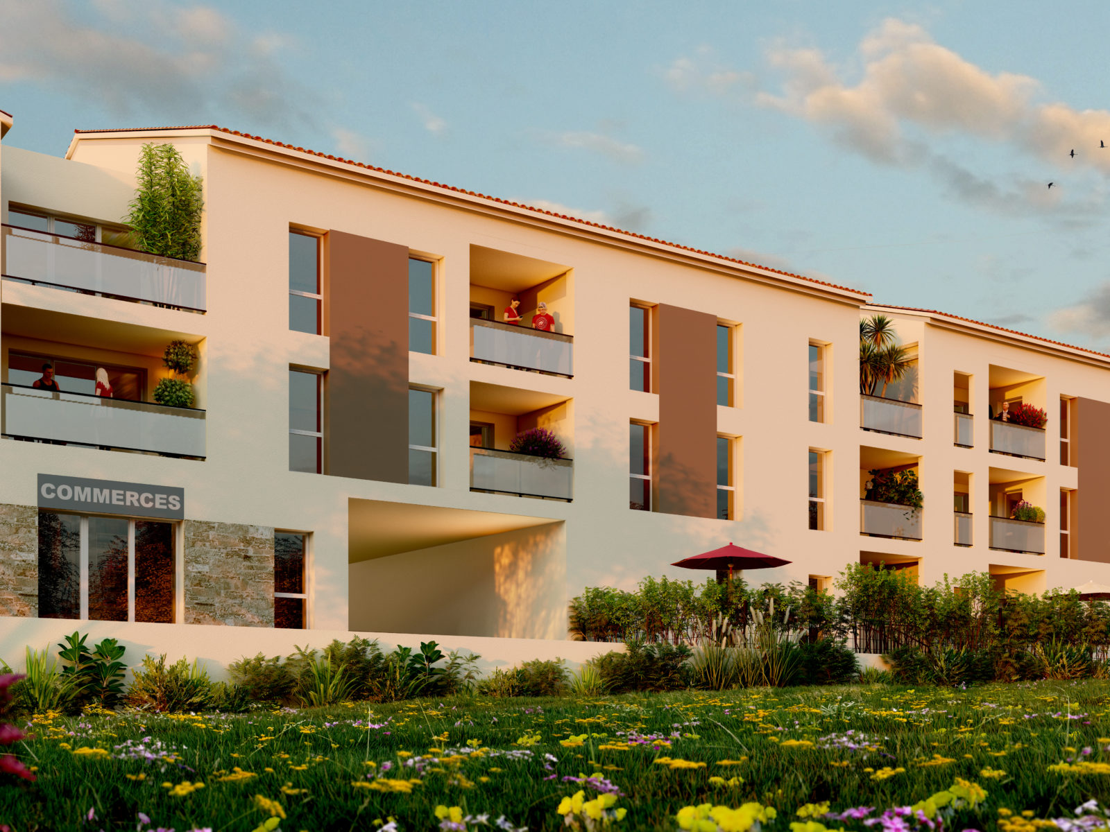 programme immobilier neuf La Destrousse jardin