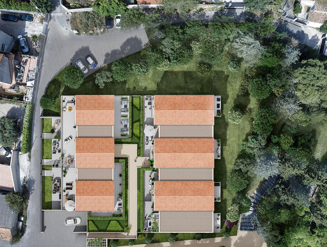 programme immobilier neuf Aubagne plan de masse