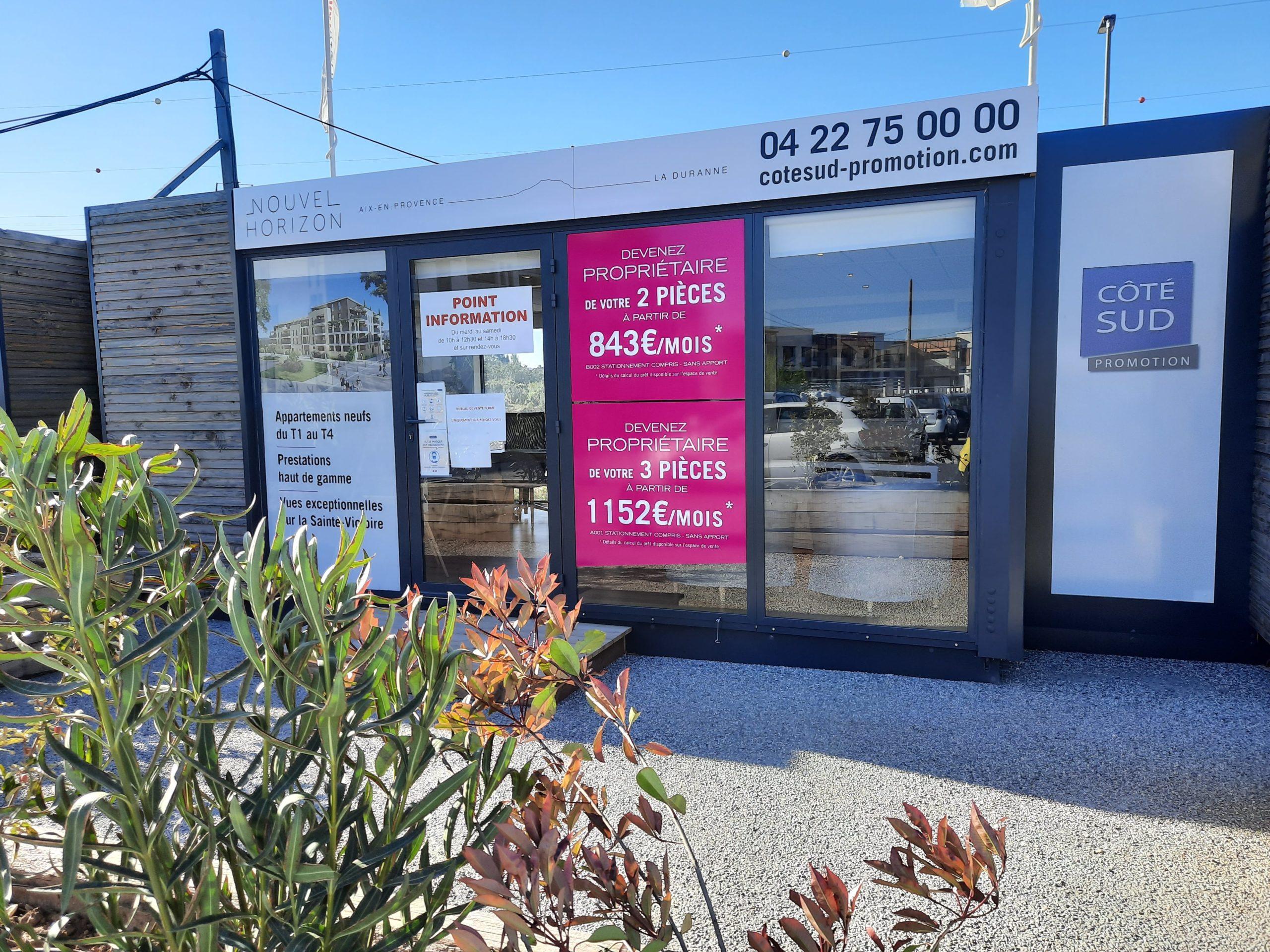 Bureau de vente programme immobilier neuf aix horizon à Aix en Provence